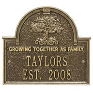 Personalized Family Tree Wedding Anniversary Plaque