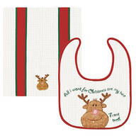 My Two Front Teeth Bib & Burp Cloth Set