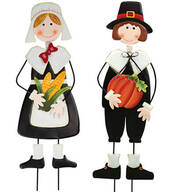 Metal Pilgrim Boy and Girl Stakes by Maple Lane Creations™