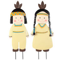 Metal Native American Boy and Girl by Maple Lane Creations™