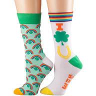 Lucky Charm and Rainbow Socks, Set of 2
