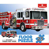 Children's Firetruck 23-Piece Floor Puzzle