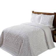 Rio Chenille Bedding White