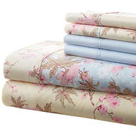 Hotel 5th Ave. 90GSM 4pc Microfiber Sheets, Blue Floral