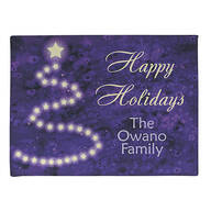 Personalized Happy Holidays Star Tree Doormat