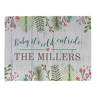 Personalized Baby It's Cold Outside Doormat