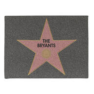 Personalized Hollywood Star Doormat