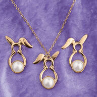 Bunny Earrings and Necklace Set
