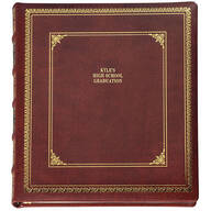Distinctive Library Leather Personalized Photo Album