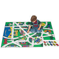 Toy Car Floor Mat and Car Set