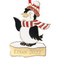Personalized Penguin Christmas Ornament