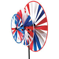 Triple Pinwheel Patriotic Wind Spinner