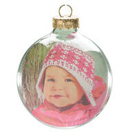 Glass Ball Photo Ornament