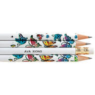 Personalized Round Butterfly Pencils Set of 12
