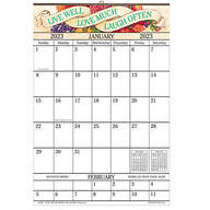 Live Love Laugh Designer 1 Yr Giant Calendar