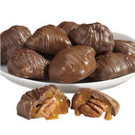 Chocolate Covered Texas Chewie® Pecan Praline 10 oz.