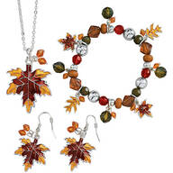 Autumn Leaf Jewelry - Set Of 3