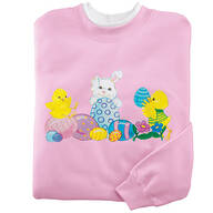Bunny And Chicks Sweatshirt S-XL