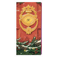 Door Knocker Monogrammed Card Set