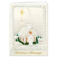 Personalized Satin Chapel Christmas Card Set of 20