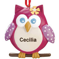 Personalized Sweet Owl Ornament