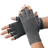 Light Compression Gloves With Grippers - 1 Pair