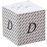 Personalized Initial Self Stick Note Cube