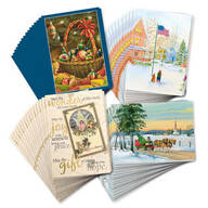 Christmas Nostalgia Christmas Cards Set of 80