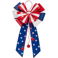 Patriotic Metal Bow Door Hanger by Maple Lane Creations™