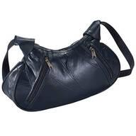 Blue Patch Leather Handbag