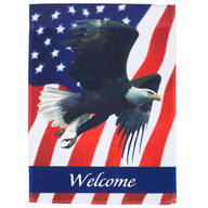 Welcome Patriotic Eagle Garden Flag