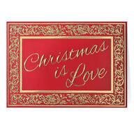 Christmas is Love Christmas Card Set of 20