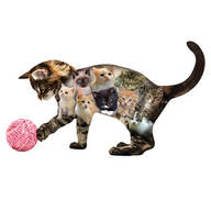 Kitten Shaped Jigsaw Puzzle - 410 Pieces