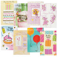 Birthday Card Set of 24