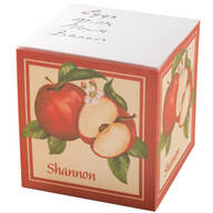 Personalized Apple self-stick note cube