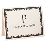 Personalized Bordered Name Note Cards, Set of 25