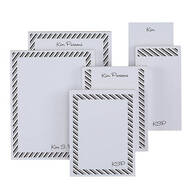 Personalized Diagonal Stripes Notepads Refill Set of 6