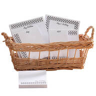 Personalized Polka Dots Basketful of Notepads