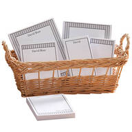 Personalized Vertical Stripes Basketful of Notepads