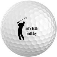 Personalized Men's Golf Balls - Set of 6