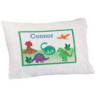 Personalized Dinosaurs Pillowcase