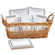 Personalized Diagonal Stripes Business Basketful of Notepads