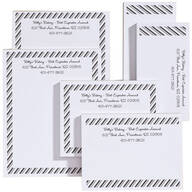 Personalized Diagonal Stripes Business Notepads Refill Set of 6