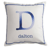 Personalized Initial Stripe Pillow