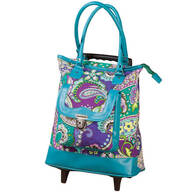 Quilted Designer Rolling Tote