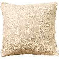 Classic Windmill Crocheted Pillow Cover