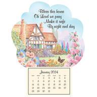 "Mini Magnetic ""Bless this House"" Calendar"
