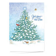 God Grew the Tree Personalized Christmas Card - Set of 20