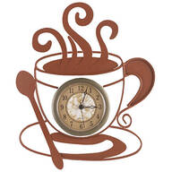 Metal Coffee Cup Clock