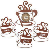 Metal Coffee Cup Décor Value Set